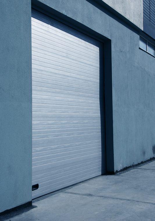 silver roller door